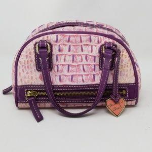 Dooney & Bourke purple alligator mini gym bag